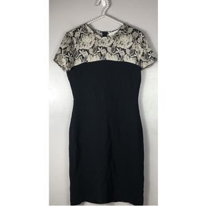 Stella McCartney Floral Lace Color Block Dress